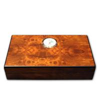 Angelo Mini Dark Burl Humidor - up to 4 cigars capacity